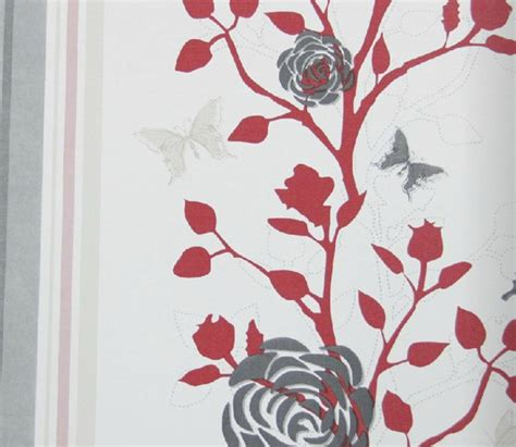 modern floral wallpaper modern floral wallpaper red and grey eclectic