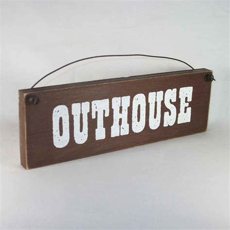 country home decor outhouse sign bathroom decorations ebay