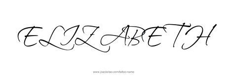 elizabeth tattoo elizabeth name designs