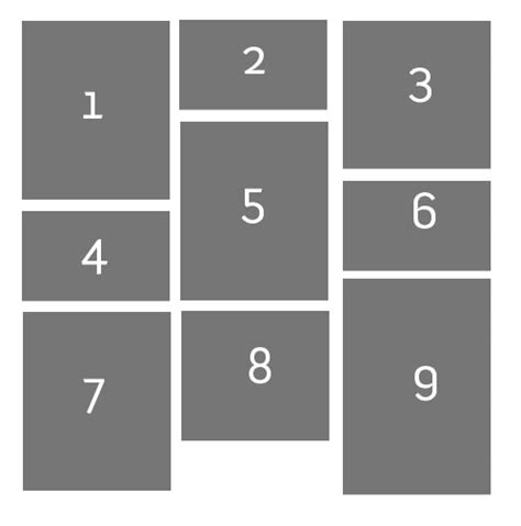 grid layout height how to create grid tile view with css stack overflow