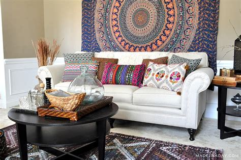 world market living room boho living room makeover pop of color with world market made in a day