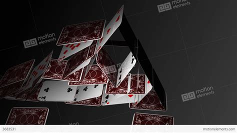 House Of Travel Gift Card - falling house of cards stock animation 3683531