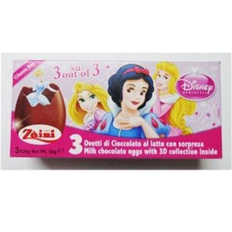 Zaini Chocolate Egg Sofia zaini disney princess chocolate egg treats with 3 per box made in italy shipping from usa