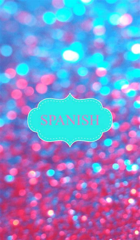 girly water wallpaper glitter spanish binder cover binder covers pinterest