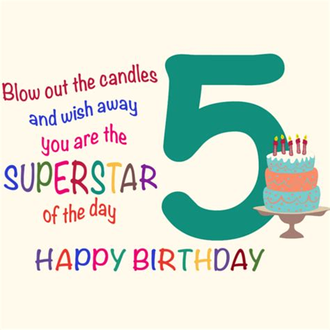 Happy 5th Birthday Wishes To My Fantastic Five Year Old Free For Kids Ecards Greeting