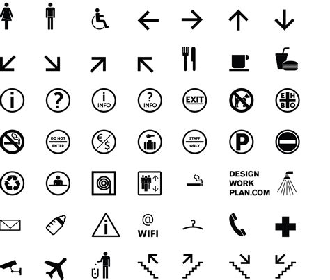 Symbols by Free Tool Symbol Signs Collection Designworkplan