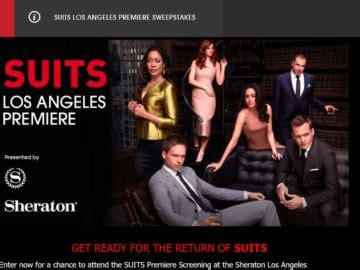 Los Angeles Sweepstakes - the suits los angeles premiere sweepstakes