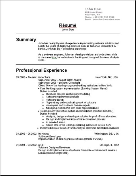 Resume Format For Usa It Us Resume Format Learnhowtoloseweight Net