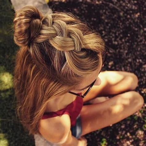 cute braided hairstyles going into a bun for black people braid into a bun with summer curls hair and beauty
