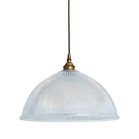old electric dome prismatic pendant light