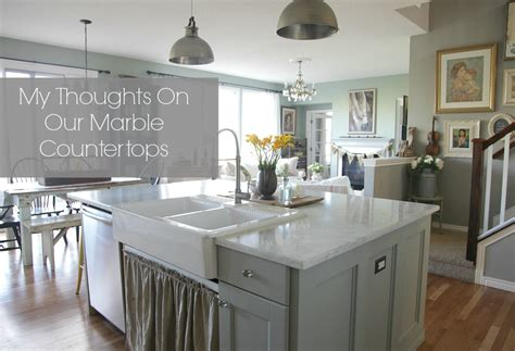 Paint Kitchen Cabinets With Chalk Paint my thoughts on our marble countertops jeanne oliver