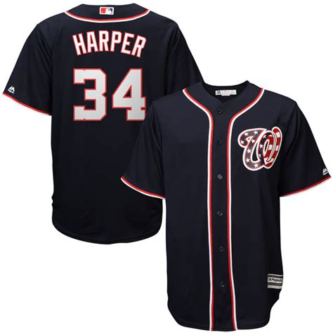 Jersey World Mens Club Blue washington nationals bryce mens replica