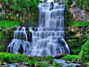 Falling Flowers - hd beautiful waterfall wallpaper download free 58578