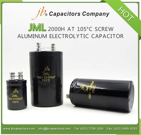 capacitor uses in lifier jb 2000h at 105 176 c aluminum electrolytic capacitor jml