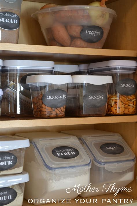 How To Organize Your Pantry by Organize Your Pantry Thyme