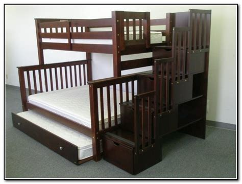 twin over queen bunk bed with stairs twin over full bunk bed with stairs and desk beds home