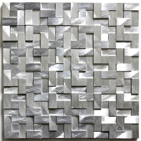 plaque mosaique salle de bain mosaique et carrelage aluminium blend gris