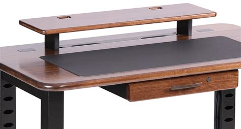 loft desktop riser shelf black walnut caretta workspace