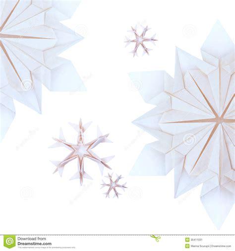 Origami Winter - origami snowflakes stock image image 35411031