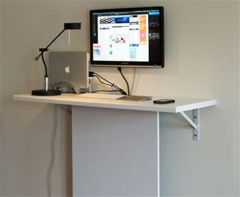 standing desk with storage standing desk with quot invisible quot data storage ikea hackers