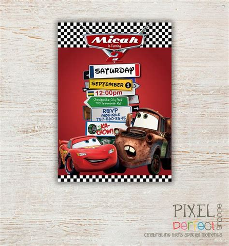 printable birthday invitations cars cars birthday invitation disney s cars lightning mcqueen