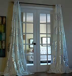 metallic silver drapes grommet with bold silver metallic