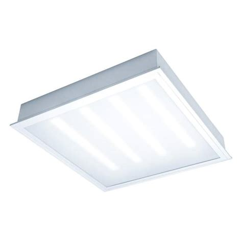 Tcp Lighting Fixtures Tcp 26150 2 X 2 25 Watt 120 Volt 3000k Dimming Led Troffer Fixture With Frosted White Lens