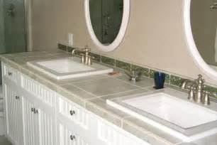 How To Tile Vanity Tops For Bathroom Tile Bathroom Countertops Liberty Home Solutions Llc