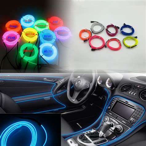 3m El Decorative Strip Light Car Interior Lights Ambient Led Light Strips For Car Interior