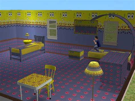 mod the sims spongebob bedroom set
