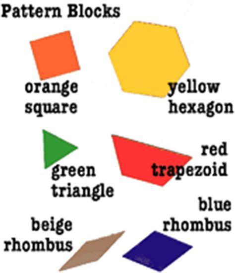 pattern block shape names kindergarten pattern activities kindergarten lessons