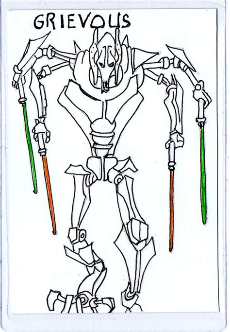 Free Coloring Pages Of General Grievous Clone General Grievous Coloring Page