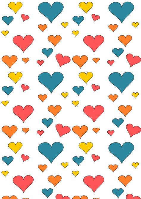 Free Printable Wrapping Paper Patterns | free printable heart pattern paper cute heart