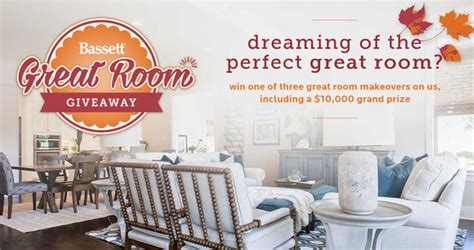 Hgtv Bassett Furniture Sweepstakes - bassett furniture great room giveaway 2016