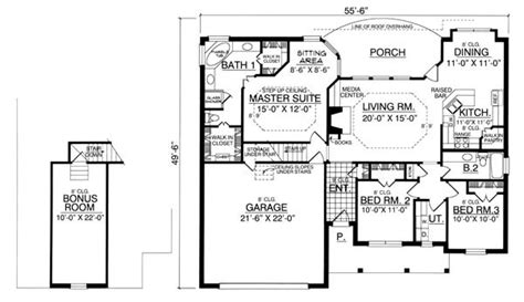 House Designs Floor Plans Usa by The Bungalow 7950 3 Bedrooms And 2 5 Baths The House