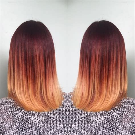 red and blonde ombre for bob hairstyle 20 hottest red ombre hair ideas with cool shades