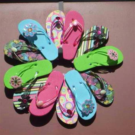 ideas for flip flop craft projects flip flop wreath my next project quot craft ideas