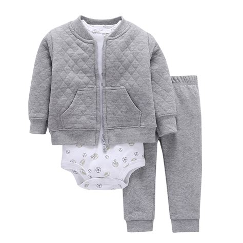 3pcs Baby Boy Clothes Sets 2017 New Special Offer 3pcs Set Baby Boy Clothes Sets Sleeved Coat Pattern