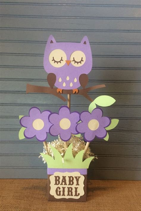 Purple Owl Baby Shower Decorations by Purple Owl Baby Shower Centerpiece