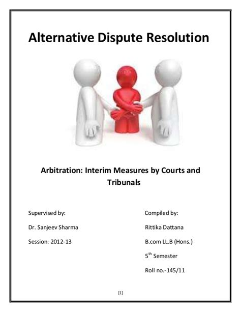 Alternative Dispute Resolution Achmad Romsan alternative dispute resolution interim measures