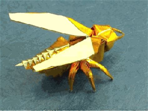 How To Make Paper Hornets - origami maniacs origami wasp by anibal voyer