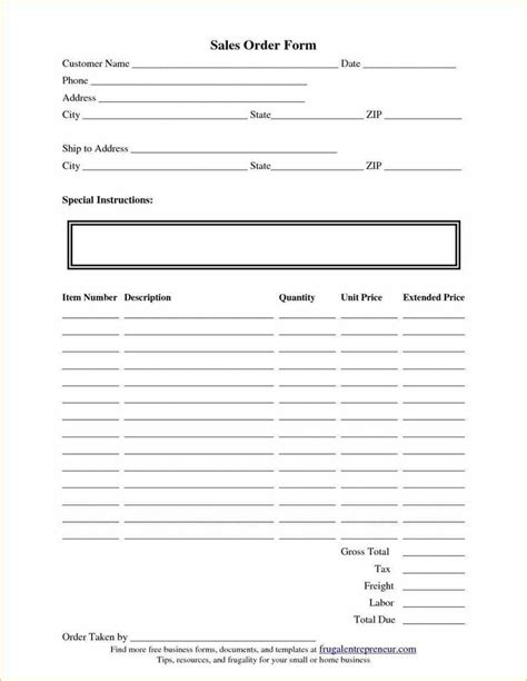 20 Best Simple Order Form Template Word Images On Pinterest Order Form Free Stencils And Simple Order Form Template
