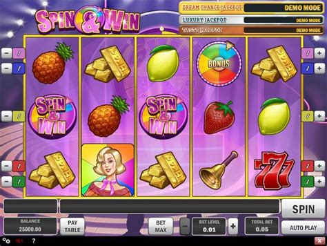 play spin win video slot  play