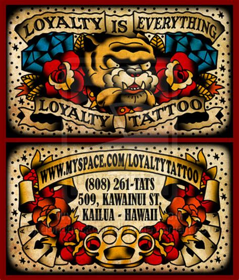 tattoo visiting card design business cards a unique business card