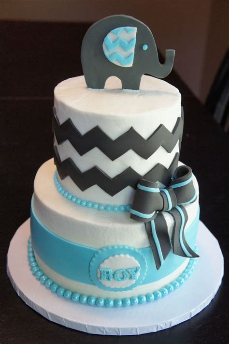 Elephant Baby Shower Cake by Elephant Chevron Cake Baby Shower Cake The Hostess