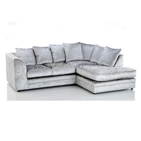 grey velvet sectional sofa crushed velvet furniture sofas beds chairs cushions