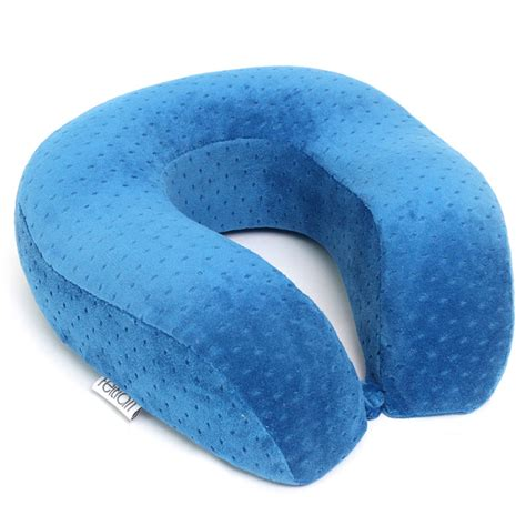 travelling pillow memory foam u shape soft velvet travel pillow neck