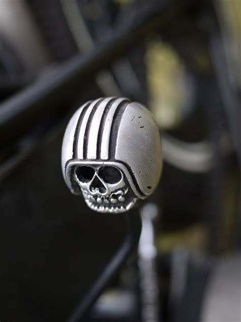 Skull Gear Knob by Skull With Helmet Shift Knob Harley Custom Parts