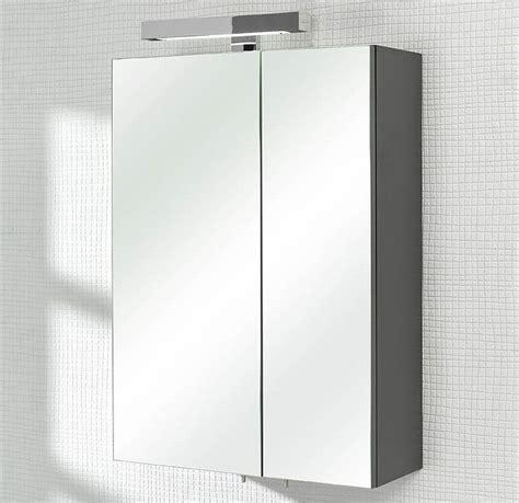 mainz spiegelschrank 50 cm anthrazit led - Spiegelschrank 50 Cm