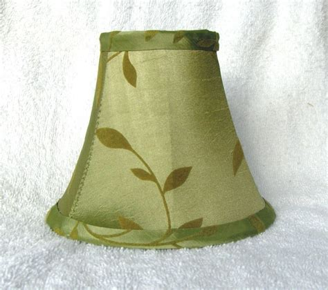 Green Chandelier Shades W Felt Leaves Fabric Chandelier L Shade Green Living Room Traditional Ebay